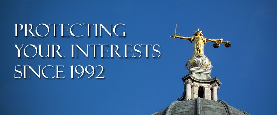 Protecting Your Interests since 1992 | Top of courthouse